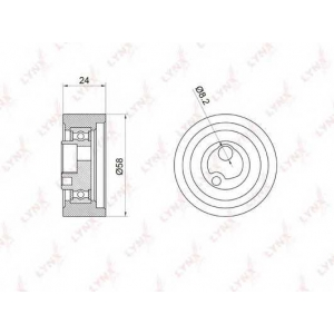 LYNX pb-1059 Ролик натяжной / грм
