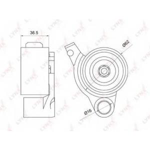 LYNX pb-1076 Ролик натяжной / грм