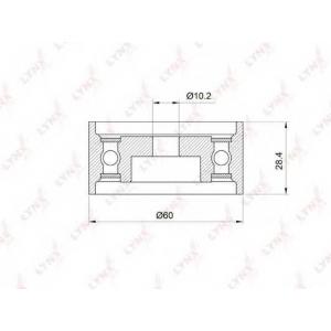 LYNX pb-3013 Ролик направляющий / грм