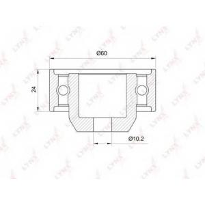 LYNX pb-3016 Ролик направляющий / грм