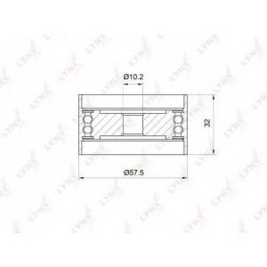 LYNX pb-3035 Ролик направляющий / грм