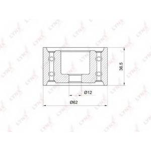LYNX pb-3036 Ролик направляющий / грм