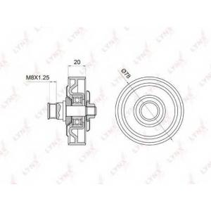 LYNX pb-5006 Ролик натяжной / приводной