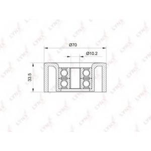 LYNX pb-5013 Ролик натяжной / приводной