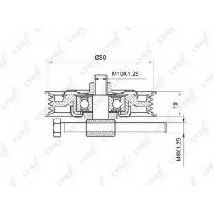 LYNX pb-5021 Ролик натяжной / приводной