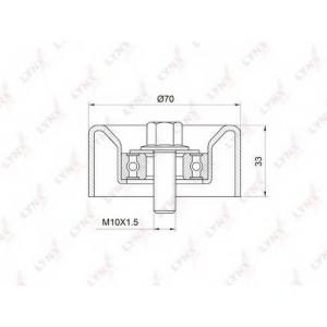 LYNX pb-5032 Ролик натяжного механизма / приводной