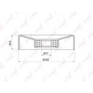LYNX pb-5033 Ролик натяжного механизма / приводной