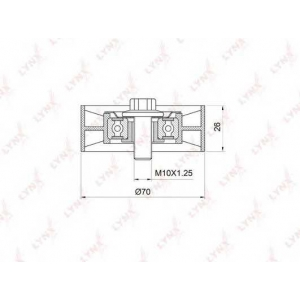 LYNX pb-5375 Ролик натяжного механизма / приводной