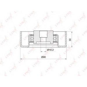 LYNX pb-7021 Ролик направляющий / приводной