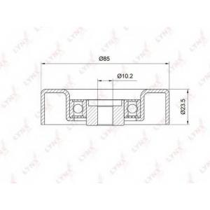 LYNX pb-7030 Ролик направляющий / приводной