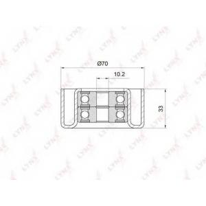 LYNX pb-7033 Ролик направляющий / приводной