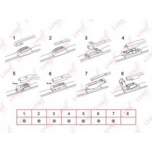 LYNX xf380 Бескаркасная щетка стеклоочистителя 380мм/15