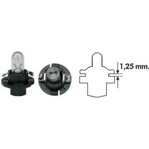 MAGNETIMARELLI 002053000000 Лампа накаливания PBX4 12V 1.2W BX8.4D (пр-во Magneti Marelli)
