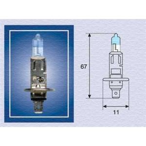 MAGNETIMARELLI 002587100000 Лампа накаливания H1 12V 55W P14,5s XENON LIGHT (+50) (пр-во Magneti Marelli кор.код. H1 12 XL)