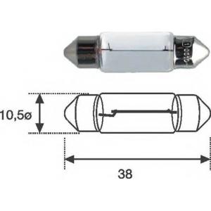 MAGNETI MARELLI 009461100000 C10W 12 Лампа накаливания (12V C10W)