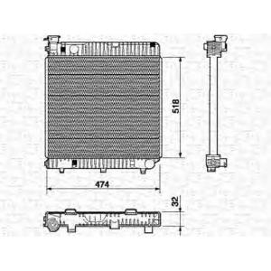 MAGNETI MARELLI 350213523000 Радиатор, охлаждение двигател