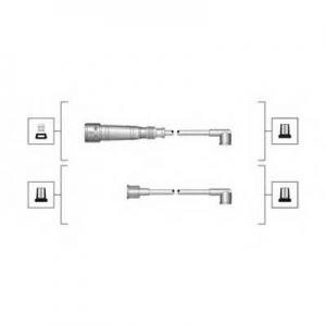 MAGNETIMARELLI 941319170004 Комплект проводов зажигания (пр-во Magneti Marelli кор.код. MSQ0004)