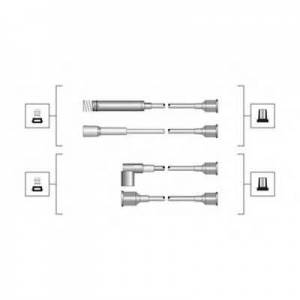 MAGNETIMARELLI 941319170064 Комплект проводов зажигания (пр-во Magneti Marelli кор.код. MSQ0064)