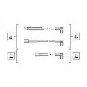 MAGNETIMARELLI 941319170072 Комплект проводов зажигания (пр-во Magneti Marelli кор.код. MSQ0072)