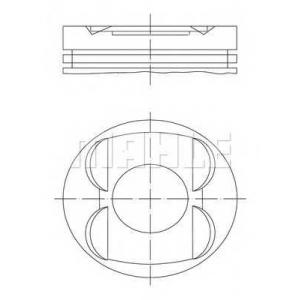 0011400 mahle Поршень MERCEDES-BENZ E-CLASS седан E 320 (210.065)