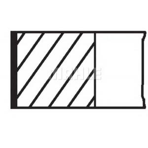 00114n2 mahle Комплект поршневых колец MERCEDES-BENZ E-CLASS седан E 320 (210.065)
