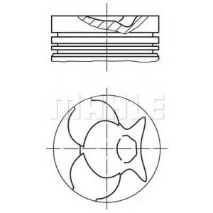 0024902 mahle Поршень MERCEDES-BENZ G-CLASS вездеход закрытый 240 GD (460,3)