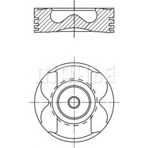 MAHLE 0045602 Поршень в комплекте на 1 цилиндр, 2-й ремонт (+0,50)