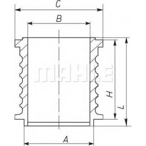 MAHLE 004 WR 16 Гильза компрессора 100,0 STD OM-402/501/2LA,541/2LA Mercedes-Benz LKW MAN D2840L