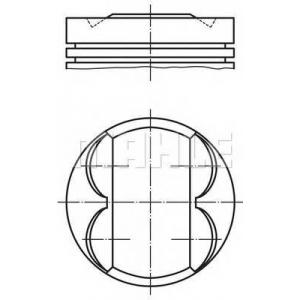 0093201 mahle Поршень FIAT BRAVA Наклонная задняя часть 1.6 16V (182.BH)