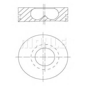 MAHLE 009 50 02 Поршни  Renault  MASTER 2,8 TD  (Seg.:3*2*3 ) /060/ 95