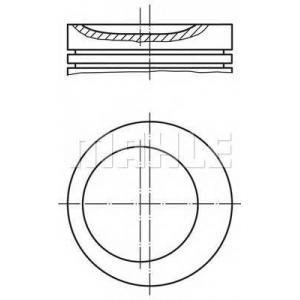 MAHLE 0116201 Поршень в комплекте на 1 цилиндр, 2-й ремонт (+0,50)