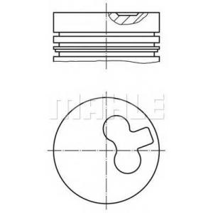 0117100 mahle Поршень OPEL ASTRA Наклонная задняя часть 1.7 TD
