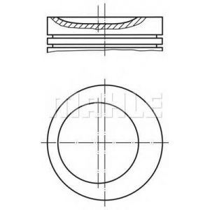 MAHLE 0117502 Поршень в комплекте на 1 цилиндр, 4-й ремонт (+1,00)