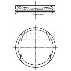 0117701 mahle Поршень OPEL KADETT Наклонная задняя часть 2.0 GSI 16V