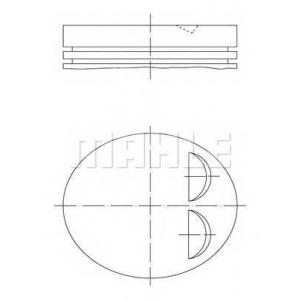 0118400 mahle Поршень OPEL ASTRA Наклонная задняя часть 1.2 16V