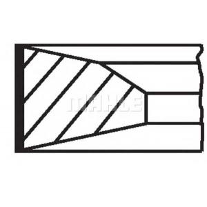 01203n0 mahle Комплект поршневых колец OPEL SINTRA вэн 2.2 DTI