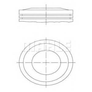 0121000 mahle Поршень OPEL ASTRA Наклонная задняя часть 1.4 16V
