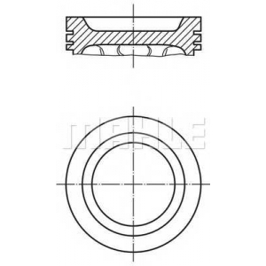 0121500 mahle Поршень OPEL ASTRA купе 2.2 16V