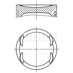 MAHLE 012 19 00 Поршни  OPEL  ASTRA Z 1.4 XEP,Euro 4 /STD/ 73,4