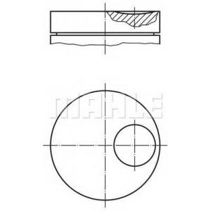 MAHLE 0145911 Поршень в комплекте на 1 цилиндр, 2-й ремонт (+0,53)