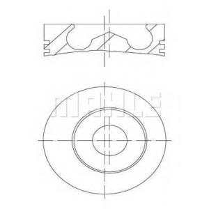 MAHLE 0148201 Поршень в комплекте на 1 цилиндр, 2-й ремонт (+0,65)