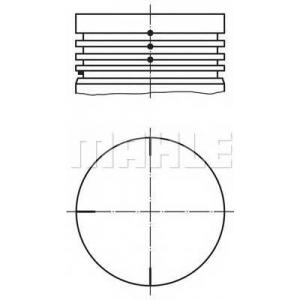 0220400 mahle Поршень RENAULT CLIO Наклонная задняя часть 1.2 (5/357Y, 5/357K)