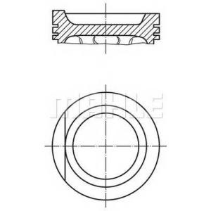 0303101 mahle Поршень, комплект VW 2E/ABK 2,0 -01