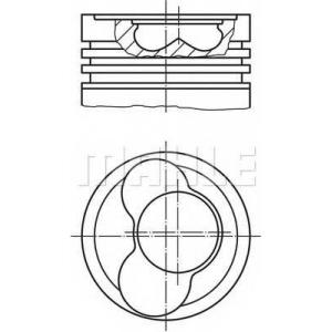 MAHLE 0305800 Поршень в комплекте на 1 цилиндр, STD