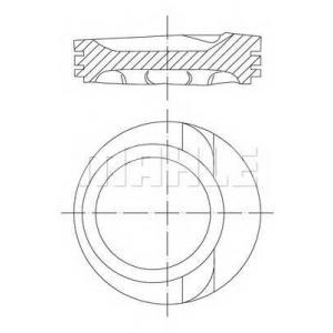 MAHLE 0306801 Поршень в комплекте на 1 цилиндр, 2-й ремонт (+0,50)