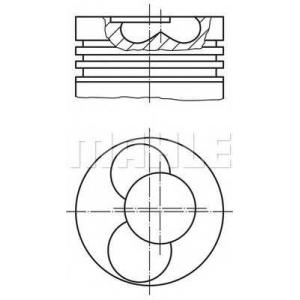 MAHLE ORIGINAL 030 86 02 Поршень VW T5 1.9TDI (1-2 цилиндр) (+0.5)