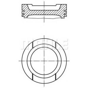 MAHLE ENGINE 0330100 Поршень Mahle AUDI/SEAT/SKODA/VW 1,6i 94-02