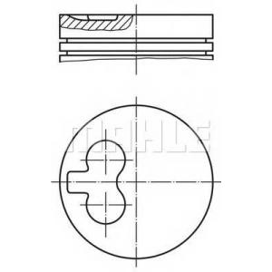 MAHLE 0392402 Поршень в комплекте на 1 цилиндр, 3-й ремонт (+0,80)