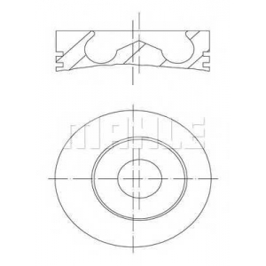 MAHLE 101 93 00 поршень (BF4/BF6M1013EC/FC) Euro 2/3