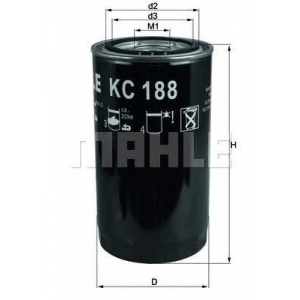 MAHLE FILTERS KC188 Фільтр паливний Mahle DAF/IVECO